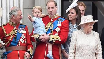Prinz George zeigte sich von den Geburtstagsfeierlichkeiten für die Queen begeistert