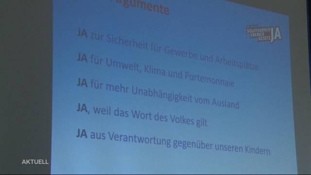 Energiegesetz kommt in Solothurn vors Volk