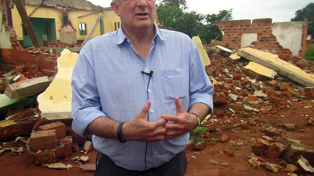 UNO-Nothilfekoordinator Stephen O'Brien sieht «frühe Anzeichen» für einen Genozid in Zentralafrika. (Archivbild)