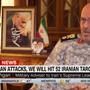 Ayatollah Chameneis militärischer Berater Hossein Dehghan beim TV-Interview mit CNN.