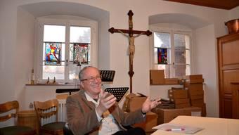 Felix Terrier, der designierte Leiter des Pastoralraums Birstal, beim Gespräch in der heutigen Sakristei des Klosters Dornach.