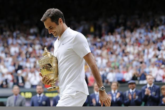 Bei 91. Einzelsiegen in Wimbledon steht Roger Federer nun - damit hat er Jimmy Connors' Rekord übertroffen.