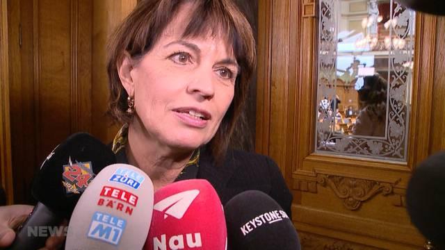 Doris Leuthard verliert letzten Kampf im Parlament