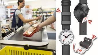 Mit der neuen Uhr von Mondaine kann man auch bezahlen.