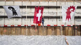 Baselland ist isoliert mit der Forderung, ein ganzer Stand zu werden (Foto: Grundsteinlegung Biozentrum, Mai 2014).