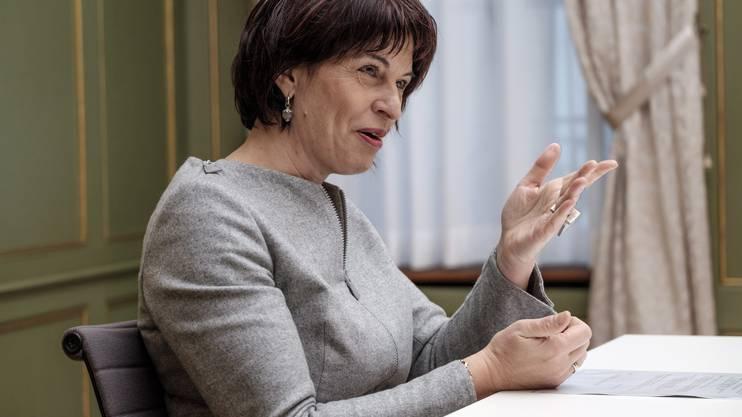 Bundesrätin Doris Leuthard.