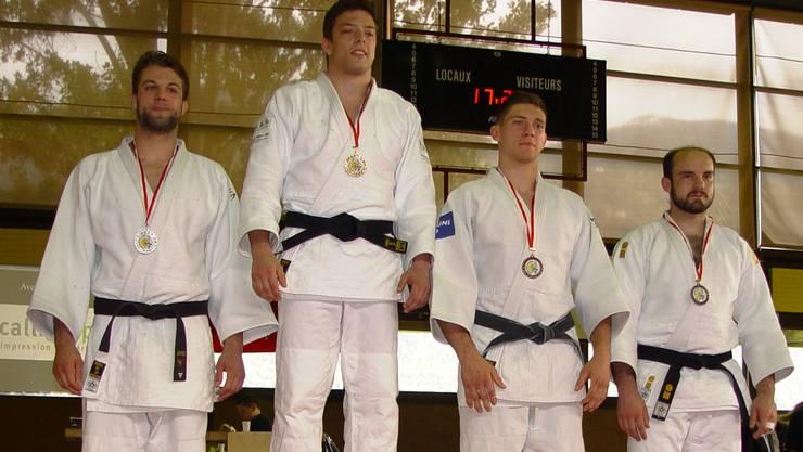 Luca Campestrin aus Lausen (links) holte sich die Silbermedaille.