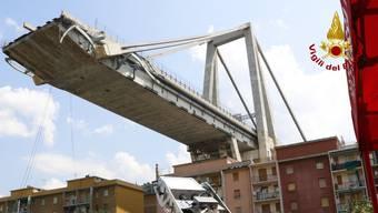 Die Morandi-Brücke am 19. August 2018