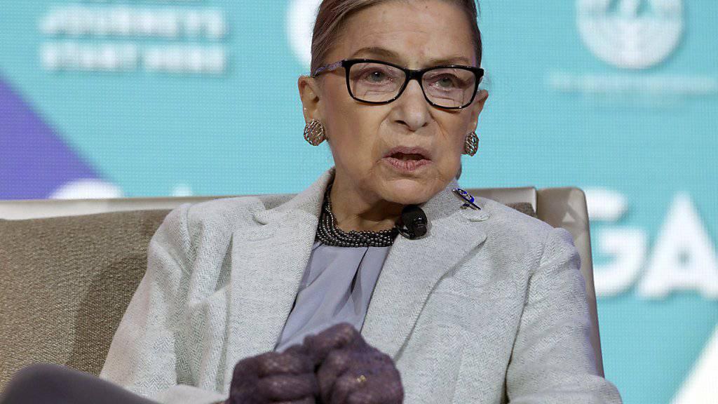 Die 83-jährige Richterin Ruth Bader Ginsburg ist eine Ikone des Feminismus in den USA. (Archivbild)