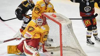 Von Luganos Spielern sechsmal überwunden: die SCL Tigers (mit Goalie Ivars Punnenovs)