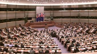 Blick in das EU-Parlament in Brüssel (Archiv)