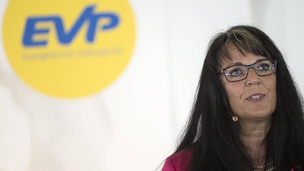 Sie kritisierte die Initianten der Durchsetzungsinitiative scharf: EVP-Präsidentin Marianne Streiff an der Delegiertenversammlung.