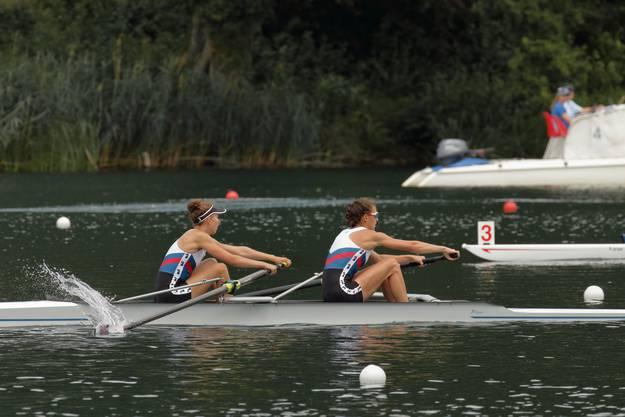 Meret Renold und Katharina Ebert auf dem Weg zur Titelverteidigung im Zweier-ohne-Steuerfrau.
