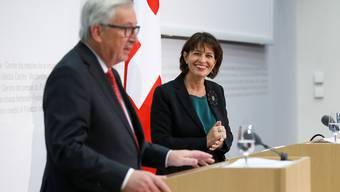 Leuthard empfängt Juncker in Bern