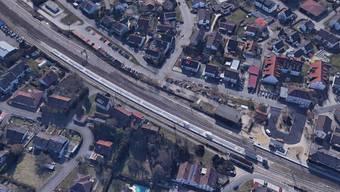 Der Bahnhof in Efringen-Kirchen wurde abgesperrt.