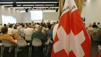 Eine Tagung von Auslandschweizern im Verkehrshaus Luzern (Archiv)
