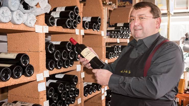 Der Weinhändler Fabrice Renner ist auch Präsident des Detailhandelsverband Saint-Louis.