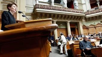 Bundesrätin Simonetta Sommaruga während der Debatte im Nationalrat