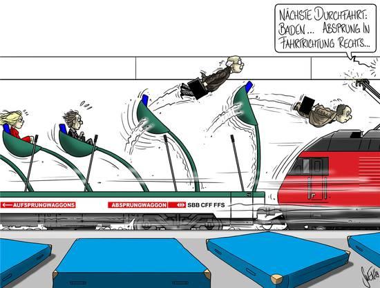 Nochmals Glück gehabt: Wenn die SBB einen Halt kurzfristig streichen, informieren sie in der Regel vorher darüber, damit Passagiere rechtzeitig umsteigen können.