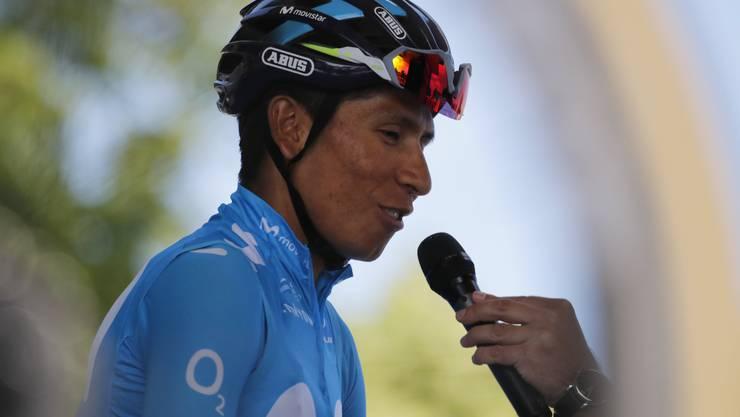 Nairo Quintana - ein potenzieller Herausforderer von Geraint Thomas. (Christoph Ena/Keystone (Albi, 15. Juli 2019))