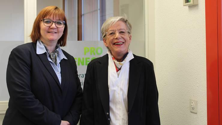 Andrea Leone und Heidi Schatzmann (v.l.): Beiden liegt das Wohl älterer Menschen am Herzen.