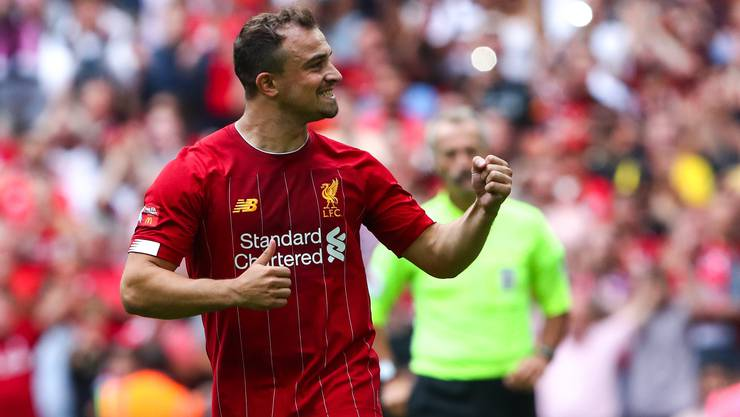 Bleibt Xherdan Shaqiri in Liverpool? (Robbie Jay Barratt/Freshfocus (London, 04. August 2019)