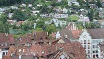 Sicht über die Aarauer Altstadt.