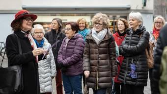 Grosses Interesse 30 Teilnehmerinnen lauschten Agnes Henz vom Tourismusbüro «aarau info».