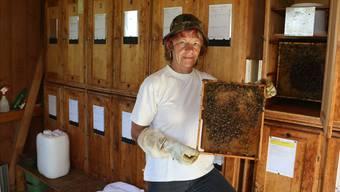 Imkerin Ruth Kohler aus Herznach betreut zusammen mit zwei weiteren Imkern 60 Bienenvölker.