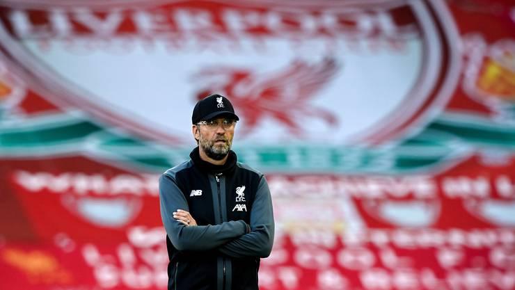 Liverpools Chef-Trainer Jürgen Klopp hat noch keine Feier geplant. (Bild: Keystone)