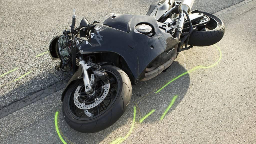 Häufig Unfälle mit Schwerverletzten gibt es bei Motorradfahrern.