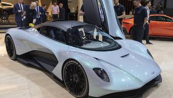 Der neue Aston Martin AM-RB003 am Genfer Autosalon im März 2019. (Archivbild)