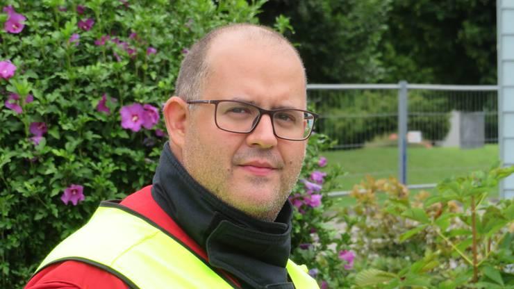 Marcel Hottinger, Kdt Feuerwehr Zufikon: «Das Haus war bei unserer Ankunft schon in vollen  Flammen und sehr heiss.»