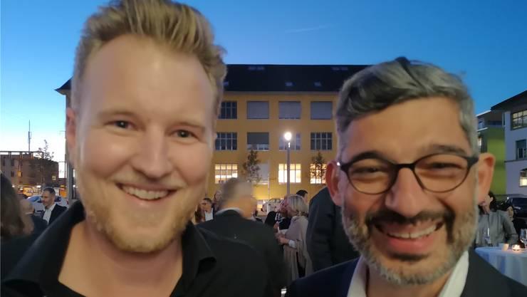 Die Ärzte Felix Bertram (l.) und Brustchirurg Hisham Fansa an der Eröffnung in Lenzburg.