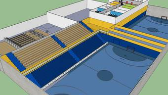 Visualisierung der Ballsporthalle im GoEasy.