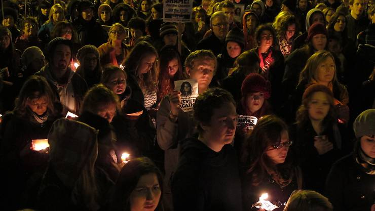 Befürworter einer Reform des Abtreibungsrechts in Irland gingen auch im November 2012 auf die Strassen. Damals gedachten sie einer 31-jährigen Frau, die nach einer verweigerten Abtreibung in Dublin gestorben war.