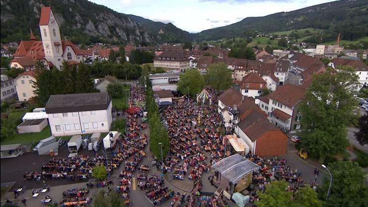 Donnschtig-Jass in Balsthal: Der Platz von oben