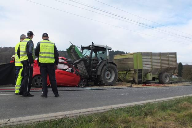 Zum Unfall kam es am Dienstag gegen 11.20 Uhr auf der Hauptstrasse zwischen Teufenthal und Gränichen.
