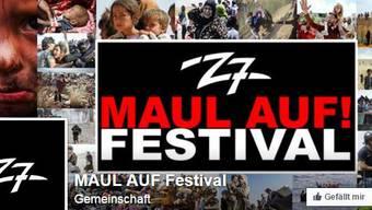 Facebook-Auftritt des Benefiz-Festivals