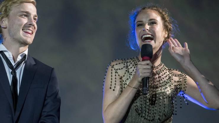 """Zusammen mit dem deutschen Schauspieler Albrecht Abraham Schuch (l) spielt die Tessinerin Carla Juri im Film """"Paula"""", der 2016 am Festival del film in Locarno uraufgeführt wurde (Archiv)"""