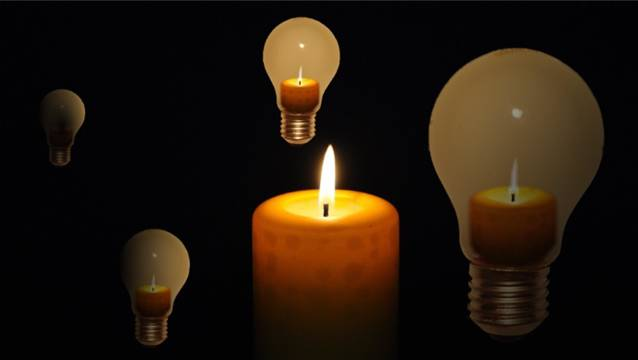 Kein Licht mehr: Stromausfall im unteren Fricktal. (Symbolfoto)