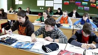 Lehrmittel: Künftig wird sich der Landrat darüber den Kopf zerbrechen, über welchen Lehrmitteln künftig die Schüler brüten.