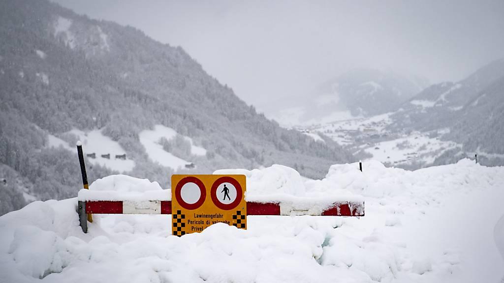 SLF warnt vor grosser Lawinengefahr in Teilen der Schweizer Alpen