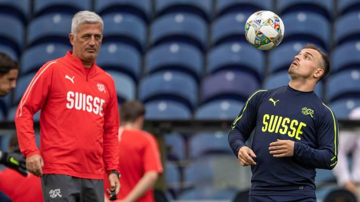 Ein Trainer und sein Problemfall: Vladimir Petkovic besucht nun Xherdan Shaqiri in Liverpool.
