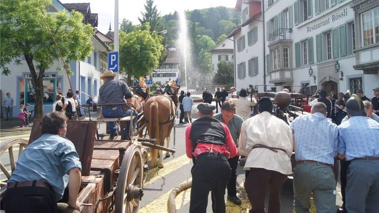 Der Feuerwehrverein Rietenberg an seinem 10-Jahr-Jubiläum. Archiv/AZ