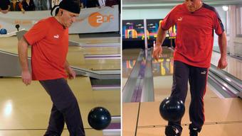 Jonglieren mit dem Ball wie damals im Bowling-Center Dulliken –diese Zeiten sind für Paul Sahli wohl vorbei.