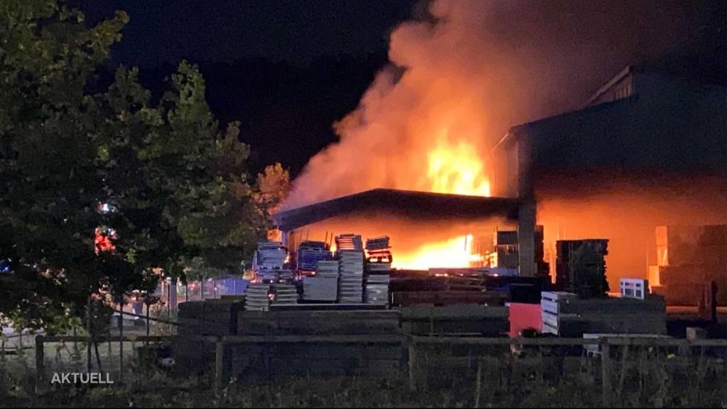 Lagerhallenbrand in Laufenburg wurde durch Akku verursacht