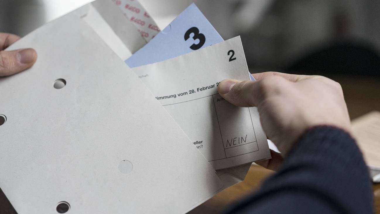 Abstimmung Couvert Volksabstimmung Stimmcouvert