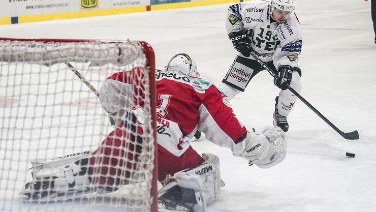 Das Duell zwischen Olten und Winterthur musste im Shootout entschieden werden.
