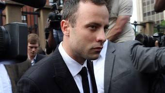 Oscar Pistorius am Mittwoch beim Verlassen des Gerichts in Pretoria